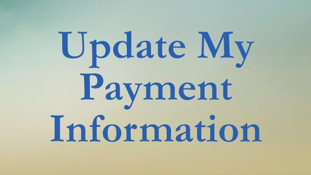 Update My Payment Information
