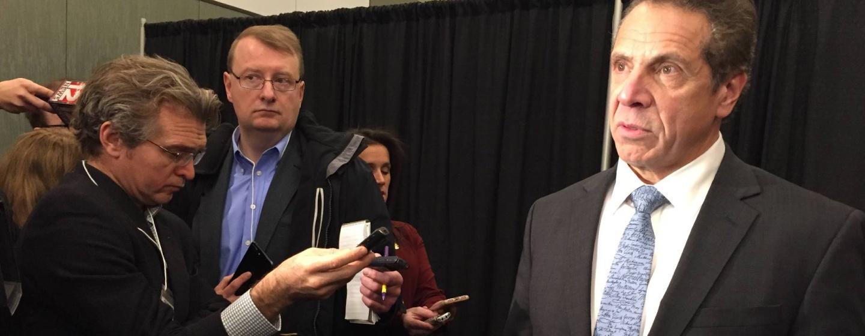 Gov. Andrew Cuomo addresses press