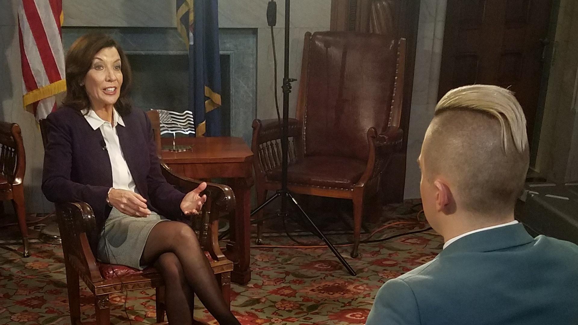 Lieutenant Governor Kathy Hochul speaks with New York NOW host, Dan Clark