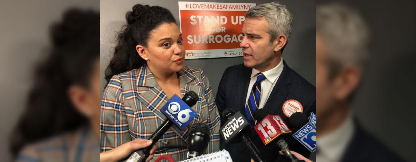 Bravo star Andy Cohen and comedian Michelle Buteau