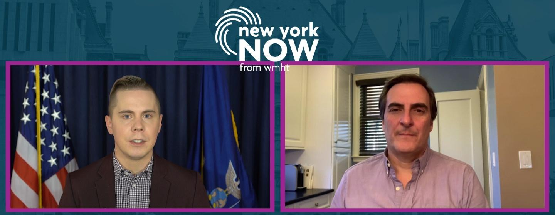 Dan Clark and Senate Deputy Majority Leader Mike Gianaris in a side by side video interview