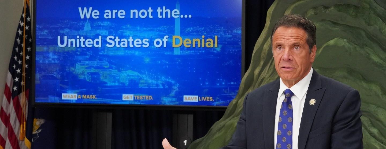 Governor Andre Cuomo addresses reporters