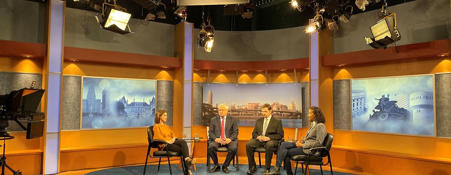 A panel discusses Foundation Aid and Public School Funding in NYS.
