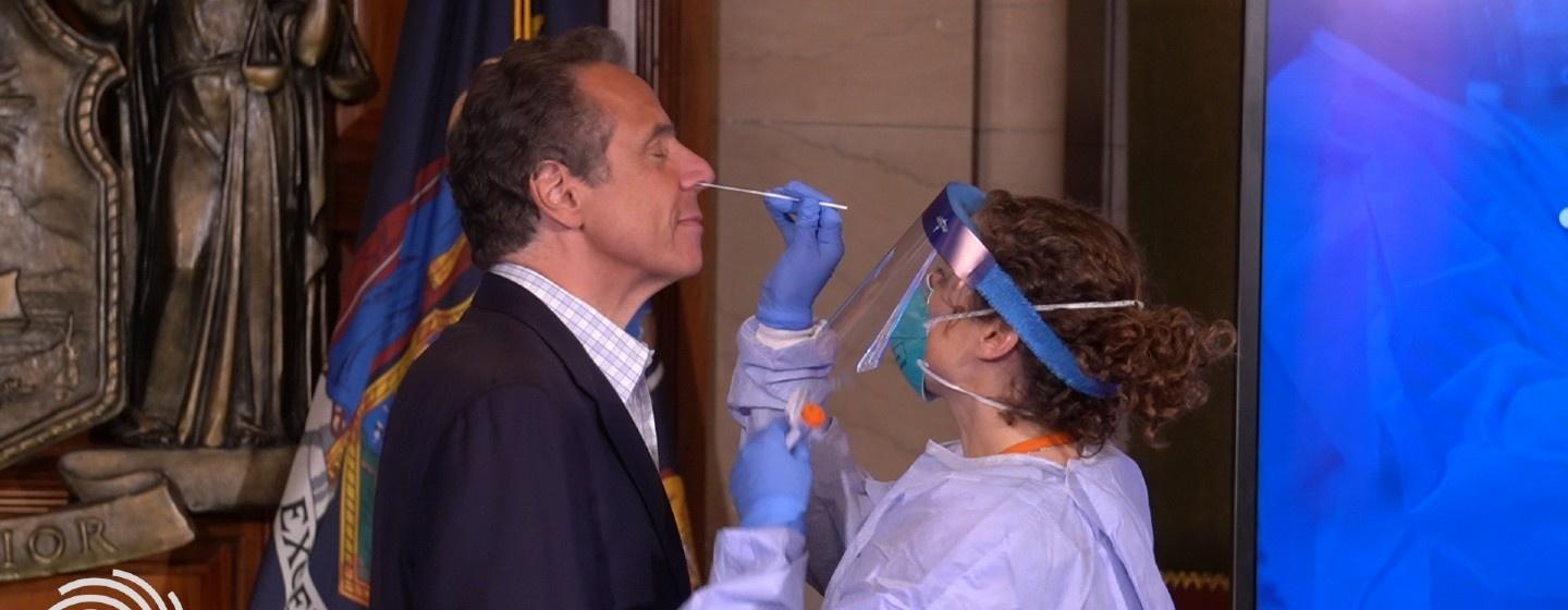 Gov. Andrew Cuomo being tested for coronavirus