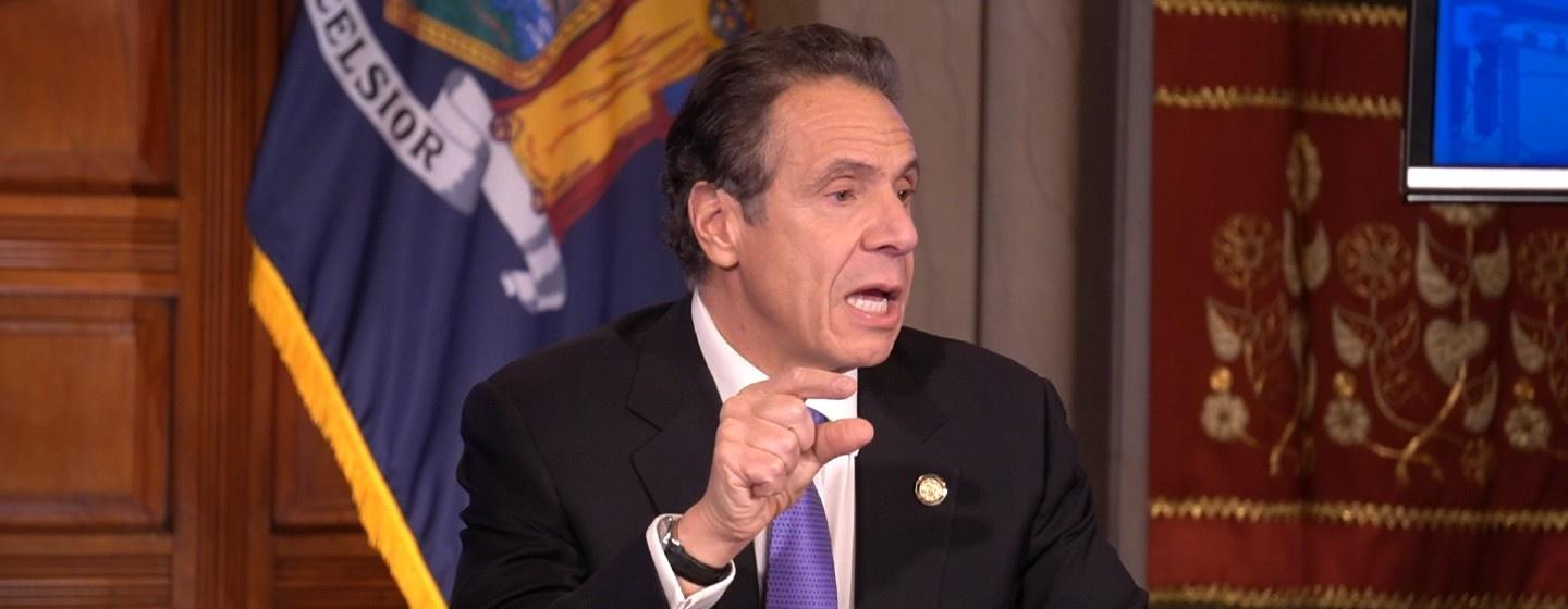 A banner image for the a special edition of New York NOW for the 2020 New York State Budget Address.