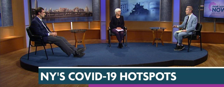 Dan Clark, Karen DeWitt and a Guest on the set of New York NOW