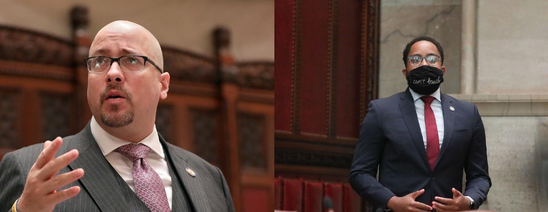 Sen. Gustavo Rivera, D-Bronx, and Sen. Zellnor Myrie this week