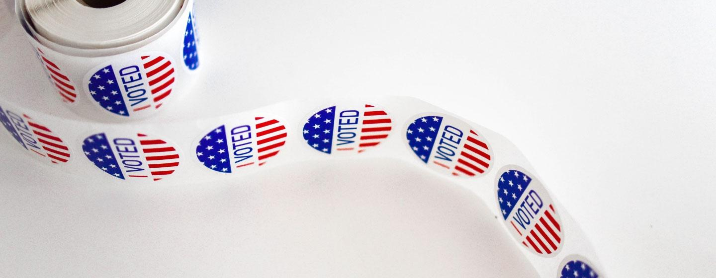 """Roll of """"I Voted"""" Stickers"""