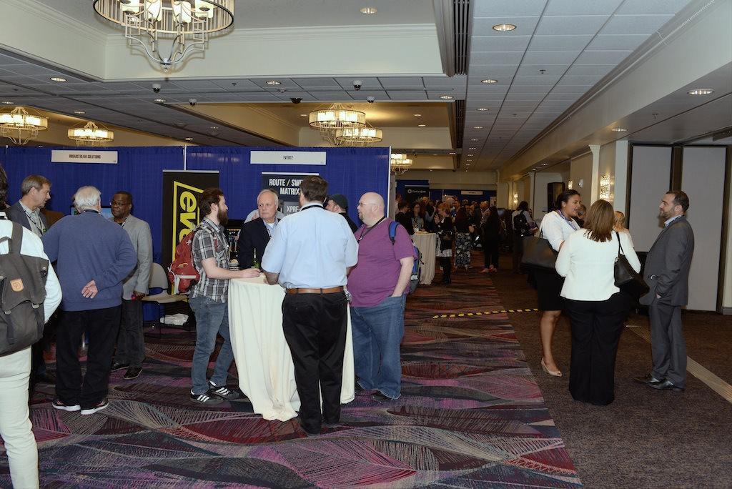 exhibit hall reception