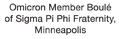 Omicron Member Boulé of Sigma Pi Phi Fraternity
