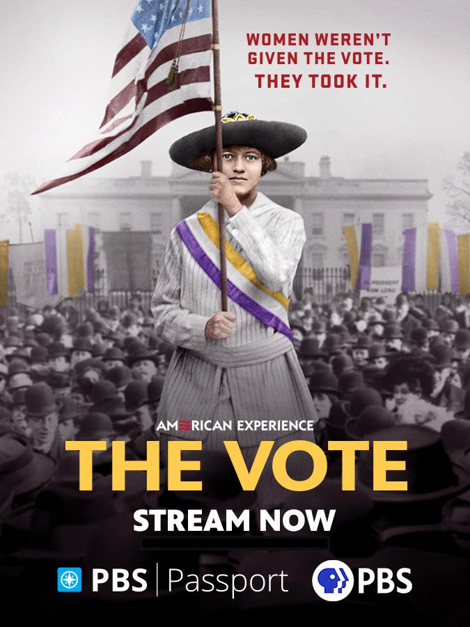 """Program art for """"The Vote"""" documentary"""