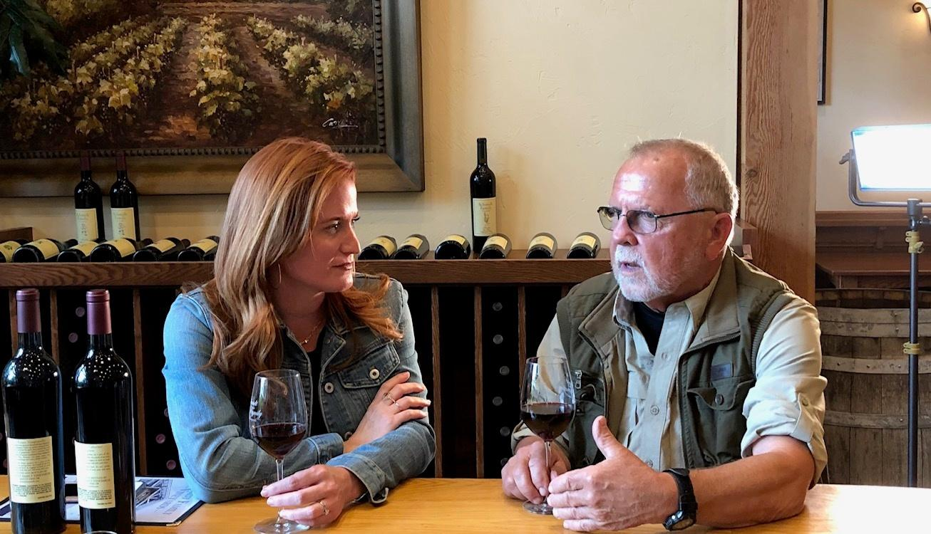 Trish Glose interviewing a wine maker