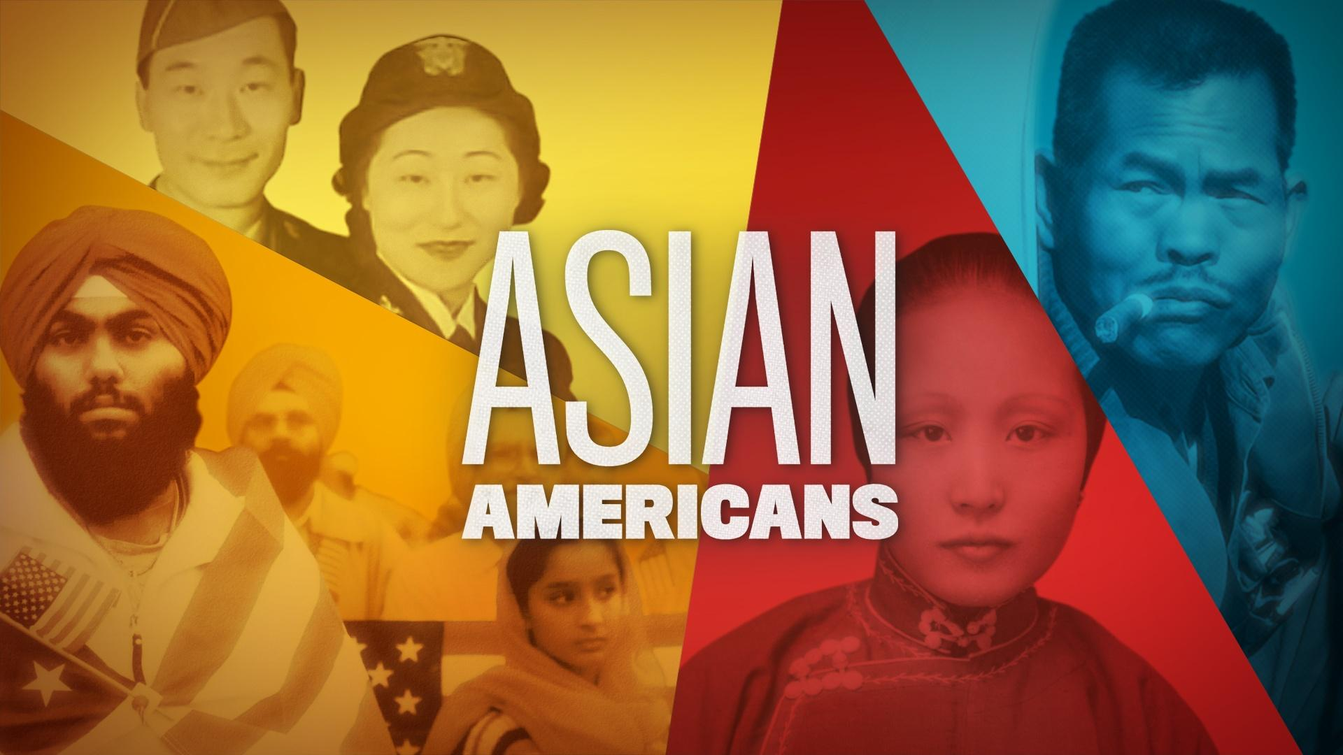 Title slide for Asian American show on PBS
