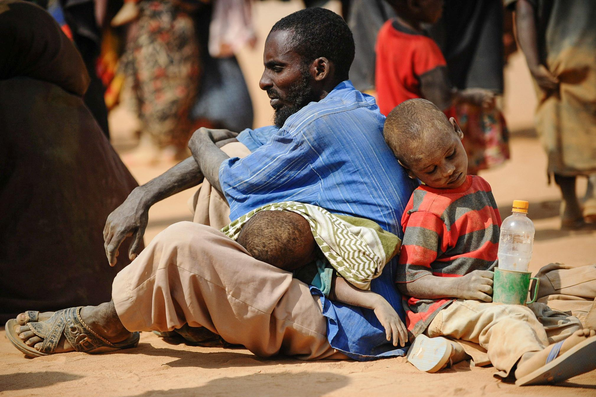 A refugee family in Mozambique
