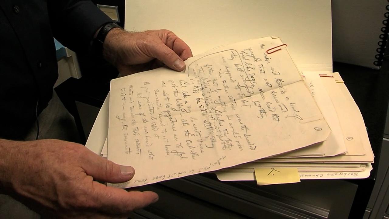 Image of John P. Harrington's notes.