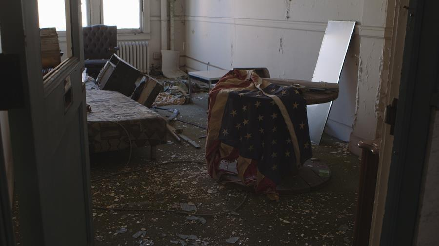 An abandoned apartment