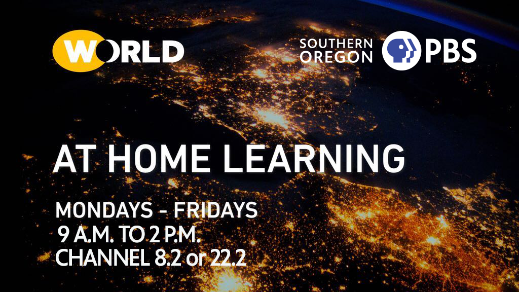 At home learning on World, weekdays 9 am to 2 pm, channel 8.2 or 22.2