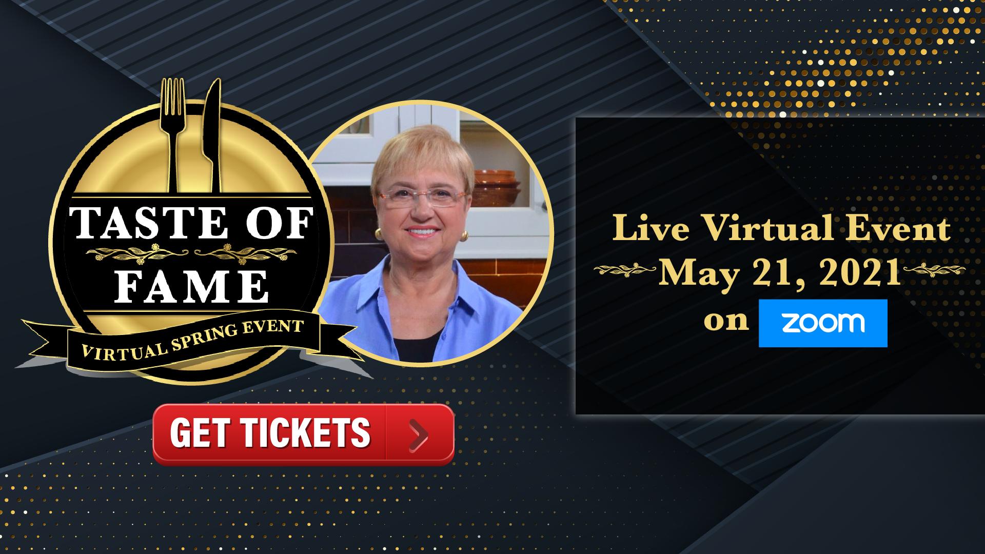 Taste of Fame Virtual Event Image
