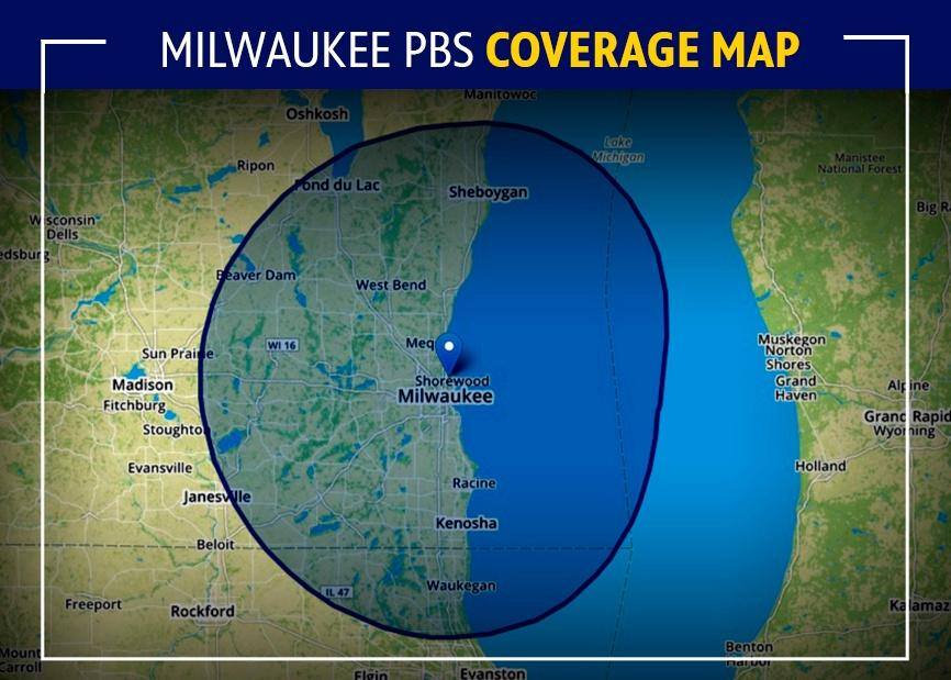 Milwaukee PBS Coverage Map