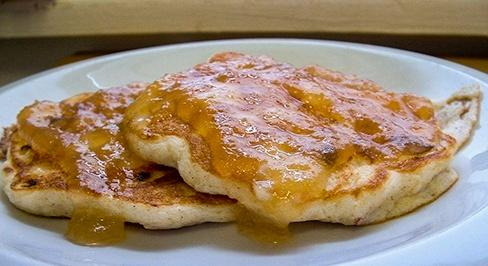 Apple Cheese Pancakes