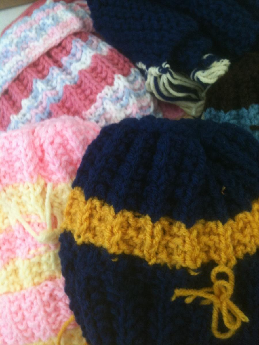 Photograph of knit items
