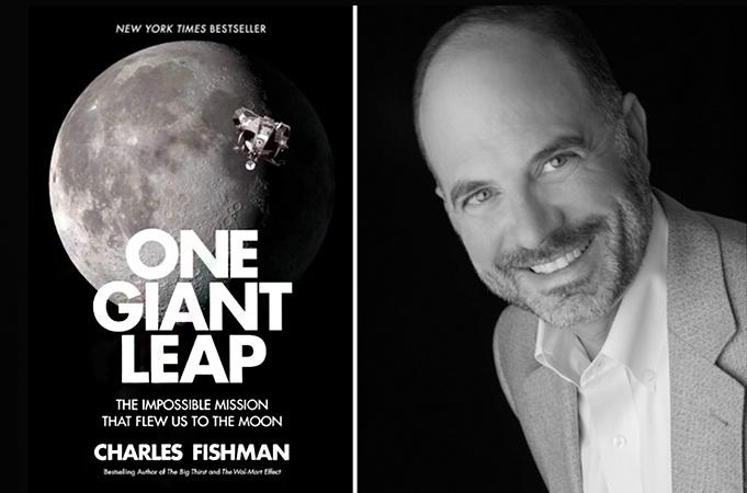 Image of Author Charles Fishman and his Book Cover 'One Giant Leap'