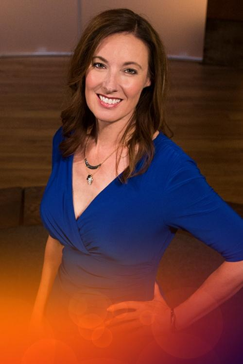 Photo of Adelante host Patricia Gomez