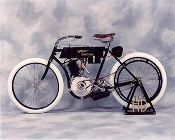 Photo of old Harley Davidson bike