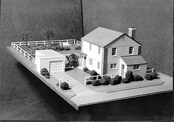 Photo of Greendale Planned Community with Model in 1930s