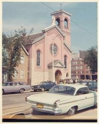 Photo of Church was razed for freeway expansion