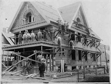 Photo of Ebner Family House Construction at 15th & Keefe