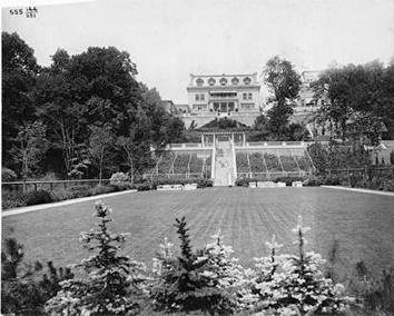 Photo of Gustave Pabst, Sr. Mansion on Terrace as seen from lake