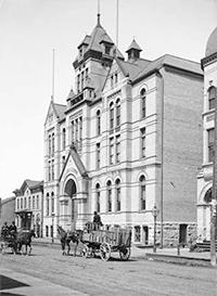 Photo of Turner Hall with Horse and Carriage