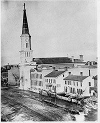 Photo of Germans build Old St. Mary's Church on Broadway