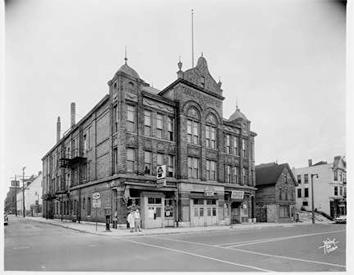 Photo of Bohemian Hall on SE corner of 12th and North in 1960