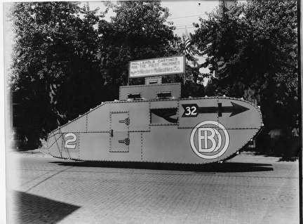 Photo of World War I Tank built by Malleable Castings