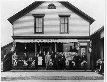 Photo of Saloon with Dogs on Chairs at 844 Greenfield Avenue