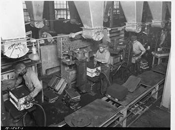 Photo of African-American Workers at West Allis Forge and Foundry