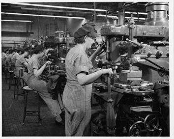 Photo of Women in Machining Operations at Allis-Chalmers in 1940s