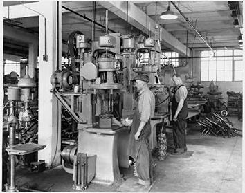 Photo of Drill Press Operators at Huebsch Manufacturing