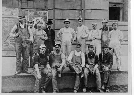 Photo of Early Group Portrait of Workers