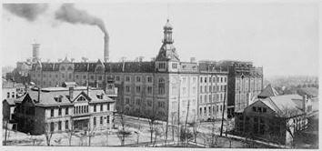 Photo of Schlitz Brewing Company Engraving of Exterior