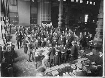 Photo of Grain Exchange Where Sampling of Wheat