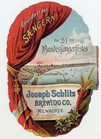 Photo of Schlitz Brewing Company Advertising Card