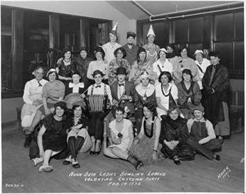 Photo of Bowling League Costume Party of Nunn Bush Shoe Employees