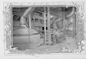 Photo of Interior of Beer Kettles at Schlitz Brewing Company