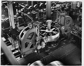 Photo of Big Machine in Shop at Falk Corporation