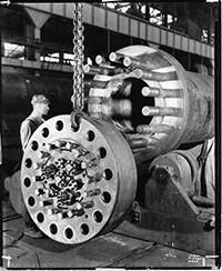 Photo of A. O. Smith Corporation, Big Pipe Line Connection with Pins