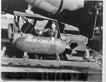 Photo of Allis-Chalmers during World War II in 1940s