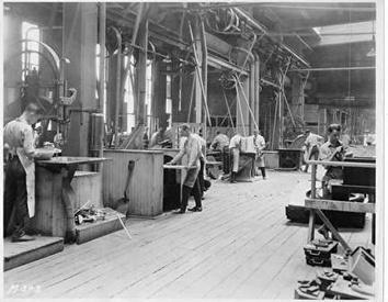 Photo of Apprentices in Shop at Allis-Chalmers